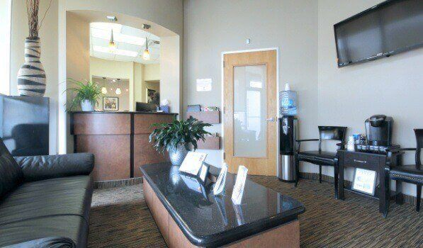 Oral surgery office reception desk