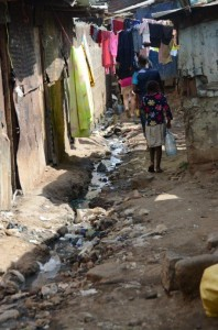 The second largest slum in Nairobi