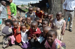 Smiling happy faces in Nairobi