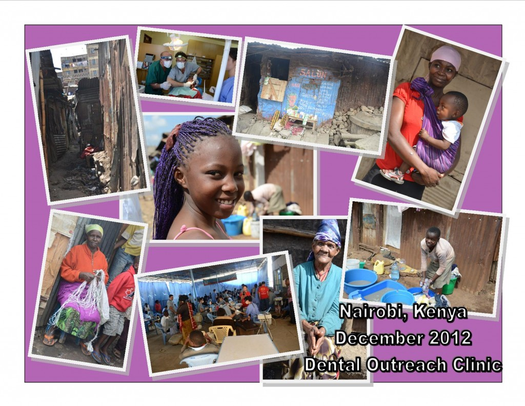 photo collage from Nairobi, Kenya Dental Outreach Clinic