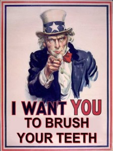 I want you to brush your teeth poster