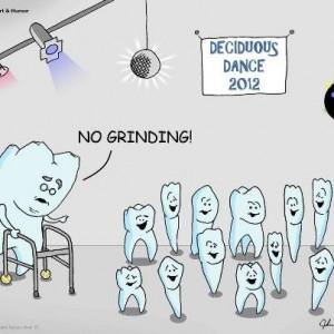 No Grinding Dental Cartoon