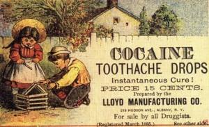 Dental Nostalgia ad for Cocaine Tooth Drops