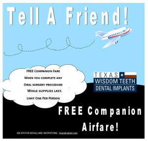 Free Companion Airfare for Dental Implants Patients